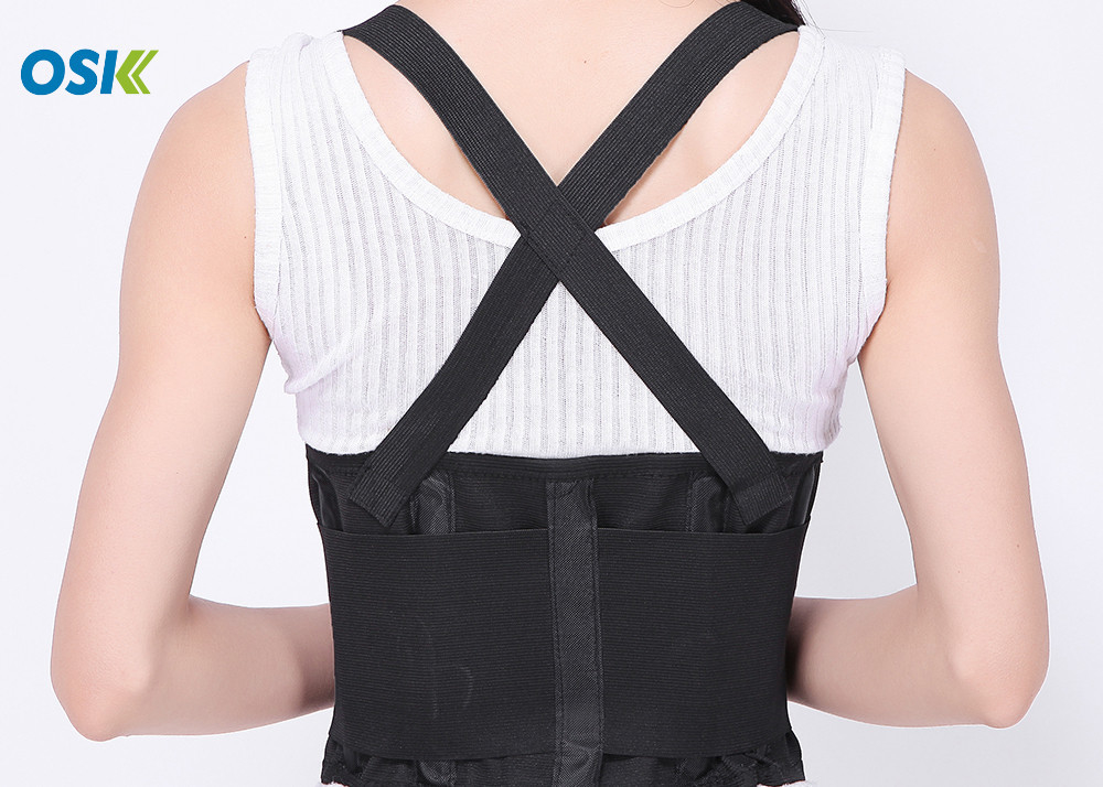Pain Relief Lower Back Belt , Lumbar Spine Support Brace OEM Service Provided